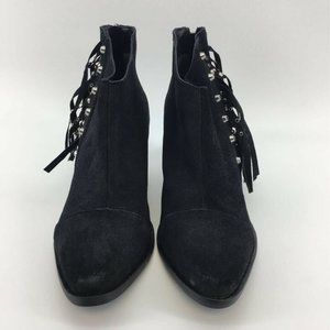 Fergie Womens Bennie Ankle Boots Booties Black